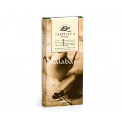 Φίλτρο τσαγιού χάρτινο μεγάλο (L) άσπρο-100 τμχ/κουτί
